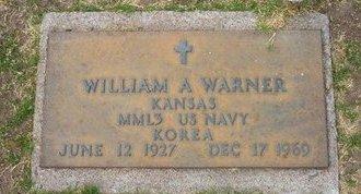 WARNER, WILLIAM A   (VETERAN KOR) - Stevens County, Kansas | WILLIAM A   (VETERAN KOR) WARNER - Kansas Gravestone Photos