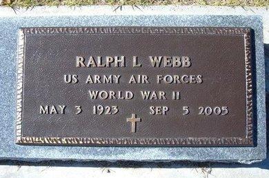WEBB, RALPH L   (VETERAN WWII) - Stevens County, Kansas   RALPH L   (VETERAN WWII) WEBB - Kansas Gravestone Photos