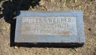 WEBBER, GLEN - Stevens County, Kansas   GLEN WEBBER - Kansas Gravestone Photos