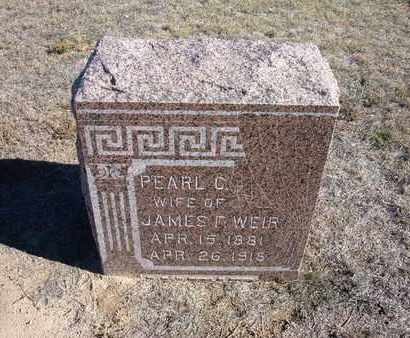 WEIR, PEARL C. - Stevens County, Kansas | PEARL C. WEIR - Kansas Gravestone Photos