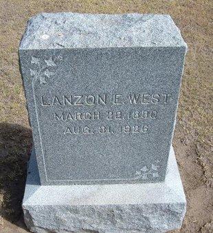 WEST, LANZON E - Stevens County, Kansas | LANZON E WEST - Kansas Gravestone Photos