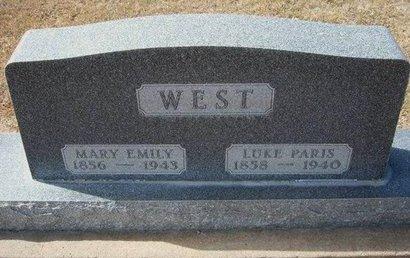WEST, MARY EMILY - Stevens County, Kansas | MARY EMILY WEST - Kansas Gravestone Photos