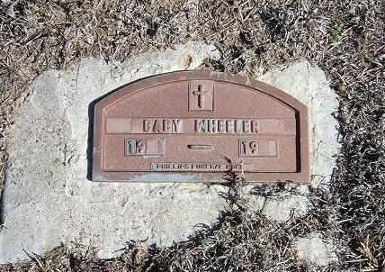 WHEELER, BABY - Stevens County, Kansas | BABY WHEELER - Kansas Gravestone Photos