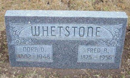 WHETSTONE, FRED A - Stevens County, Kansas | FRED A WHETSTONE - Kansas Gravestone Photos