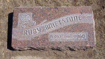 WHETSTONE, RUBY - Stevens County, Kansas | RUBY WHETSTONE - Kansas Gravestone Photos