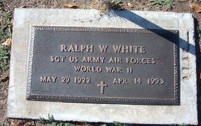 WHITE, RALPH WILLIAM   (VETERAN WWII) - Stevens County, Kansas   RALPH WILLIAM   (VETERAN WWII) WHITE - Kansas Gravestone Photos