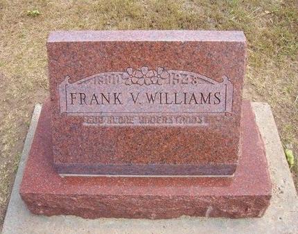 WILLIAMS, FRANK VERNARD - Stevens County, Kansas   FRANK VERNARD WILLIAMS - Kansas Gravestone Photos