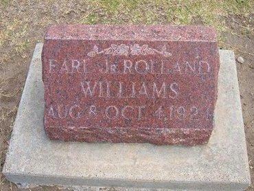 WILLIAMS , EARL ROLLAND, JR - Stevens County, Kansas   EARL ROLLAND, JR WILLIAMS  - Kansas Gravestone Photos