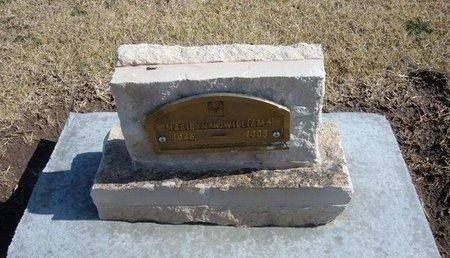 WILLIAMS, MARILYN K - Stevens County, Kansas   MARILYN K WILLIAMS - Kansas Gravestone Photos