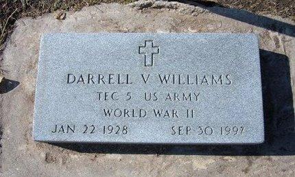 WILLIAMS, DARRELL V   (VETERAN WWII) - Stevens County, Kansas | DARRELL V   (VETERAN WWII) WILLIAMS - Kansas Gravestone Photos