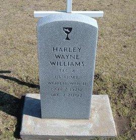 WILLIAMS, HARLEY WAYNE (VETERAN WWII) - Stevens County, Kansas | HARLEY WAYNE (VETERAN WWII) WILLIAMS - Kansas Gravestone Photos