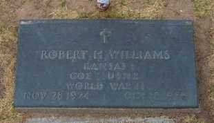 WILLIAMS, ROBERT H (VETERAN WWII) - Stevens County, Kansas | ROBERT H (VETERAN WWII) WILLIAMS - Kansas Gravestone Photos