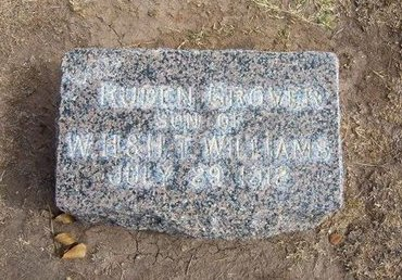WILLIAMS, RUBEN - Stevens County, Kansas | RUBEN WILLIAMS - Kansas Gravestone Photos