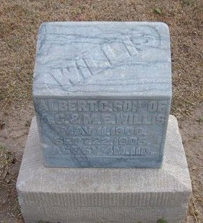 WILLIS, ALBERT C - Stevens County, Kansas | ALBERT C WILLIS - Kansas Gravestone Photos