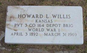 WILLIS, HOWARD LOWERY   (VETERAN WWI) - Stevens County, Kansas | HOWARD LOWERY   (VETERAN WWI) WILLIS - Kansas Gravestone Photos