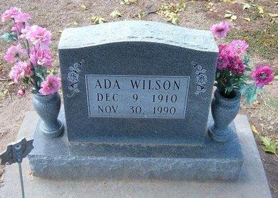 WILSON, ADA - Stevens County, Kansas   ADA WILSON - Kansas Gravestone Photos