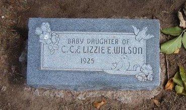 WILSON, BABY DAUGHTER - Stevens County, Kansas   BABY DAUGHTER WILSON - Kansas Gravestone Photos
