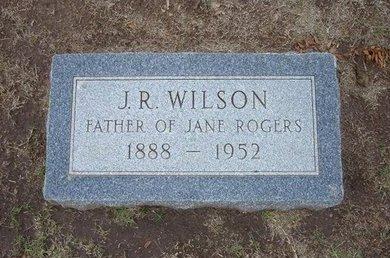 WILSON, J R - Stevens County, Kansas   J R WILSON - Kansas Gravestone Photos