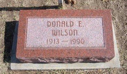 WILSON, DONALD E   (VETERAN WWII) - Stevens County, Kansas | DONALD E   (VETERAN WWII) WILSON - Kansas Gravestone Photos