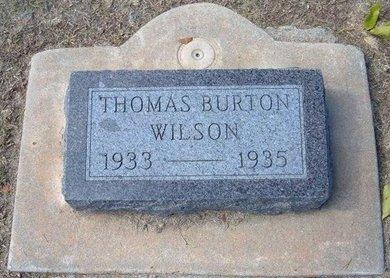 WILSON, THOMAS BURTON - Stevens County, Kansas | THOMAS BURTON WILSON - Kansas Gravestone Photos
