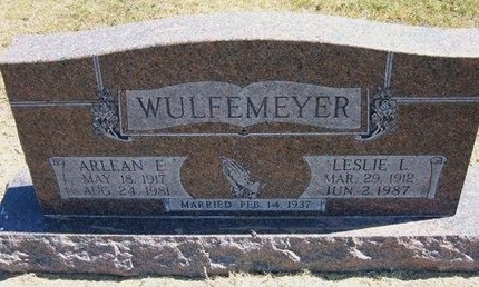 WULFEMEYER, ARLEAN E - Stevens County, Kansas | ARLEAN E WULFEMEYER - Kansas Gravestone Photos