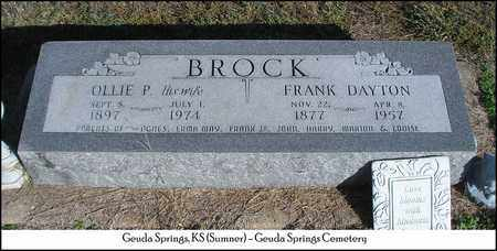 PATTERSON BROCK, OLLIE MAGGIE - Sumner County, Kansas | OLLIE MAGGIE PATTERSON BROCK - Kansas Gravestone Photos