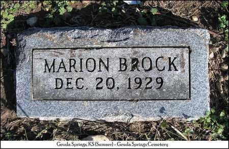 BROCK, MARION - Sumner County, Kansas | MARION BROCK - Kansas Gravestone Photos