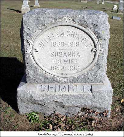 CRIMBLE, WILLIAM - Sumner County, Kansas | WILLIAM CRIMBLE - Kansas Gravestone Photos