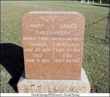 FARQUHARSON, MARY - Sumner County, Kansas   MARY FARQUHARSON - Kansas Gravestone Photos