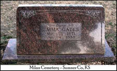GATES, EMMA - Sumner County, Kansas | EMMA GATES - Kansas Gravestone Photos