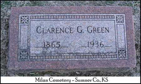 GREEN, CLARENCE G - Sumner County, Kansas   CLARENCE G GREEN - Kansas Gravestone Photos