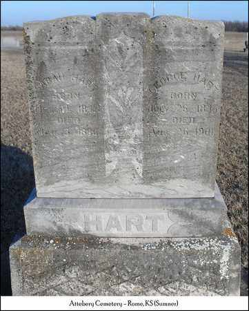 HART, GEORGE - Sumner County, Kansas | GEORGE HART - Kansas Gravestone Photos