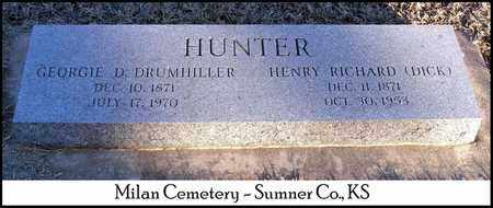 HUNTER, HENRY RICHARD (DICK) - Sumner County, Kansas | HENRY RICHARD (DICK) HUNTER - Kansas Gravestone Photos