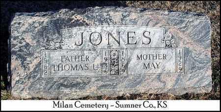 JONES, THOMAS U - Sumner County, Kansas | THOMAS U JONES - Kansas Gravestone Photos