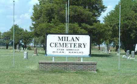 *SIGN, MILAN CEMETERY - Sumner County, Kansas   MILAN CEMETERY *SIGN - Kansas Gravestone Photos