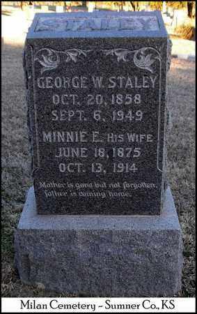STALEY, GEORGE W - Sumner County, Kansas | GEORGE W STALEY - Kansas Gravestone Photos