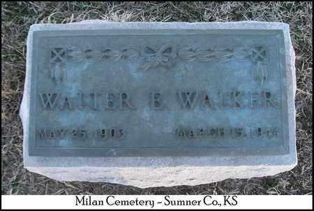 WALKER, WALTER - Sumner County, Kansas   WALTER WALKER - Kansas Gravestone Photos