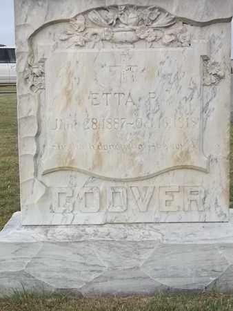 COOVER, ETTA P (CLOSE UP) - Thomas County, Kansas | ETTA P (CLOSE UP) COOVER - Kansas Gravestone Photos