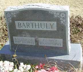BARTHULY, GEORGE, SR - Wabaunsee County, Kansas | GEORGE, SR BARTHULY - Kansas Gravestone Photos