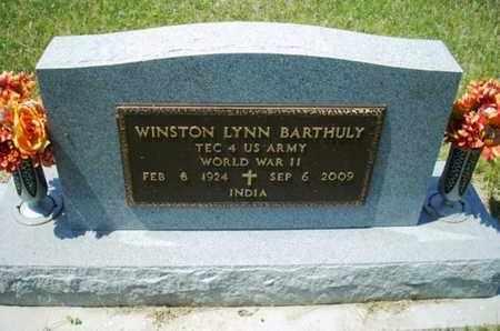 BARTHULY, WINSTON LYNN  (VETERAN WWII) - Wabaunsee County, Kansas | WINSTON LYNN  (VETERAN WWII) BARTHULY - Kansas Gravestone Photos