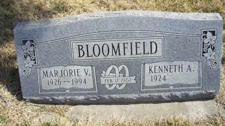 BLOOMFIELD, MARJORIE V - Wabaunsee County, Kansas | MARJORIE V BLOOMFIELD - Kansas Gravestone Photos