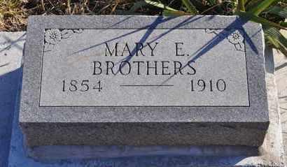 BROTHERS, MARY E - Wabaunsee County, Kansas | MARY E BROTHERS - Kansas Gravestone Photos