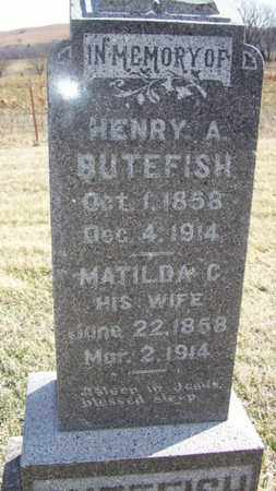 BUTEFISH, MATILDA - Wabaunsee County, Kansas | MATILDA BUTEFISH - Kansas Gravestone Photos
