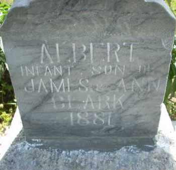 CLARK, ALBERT - Wabaunsee County, Kansas | ALBERT CLARK - Kansas Gravestone Photos