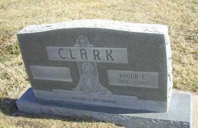 CLARK, RHODA E - Wabaunsee County, Kansas | RHODA E CLARK - Kansas Gravestone Photos
