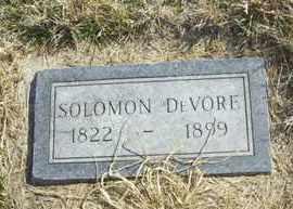 DEVORE, SOLOMON - Wabaunsee County, Kansas | SOLOMON DEVORE - Kansas Gravestone Photos