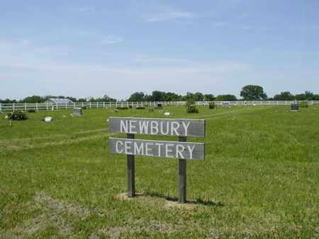 *SIGN, NEWBURY CEMETERY - Wabaunsee County, Kansas | NEWBURY CEMETERY *SIGN - Kansas Gravestone Photos