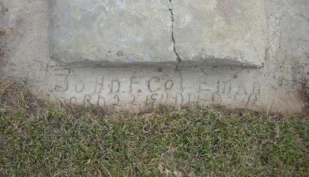 COLEMAN, JOHN F - Wallace County, Kansas   JOHN F COLEMAN - Kansas Gravestone Photos