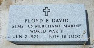 DAVID, FLOYD D   (VETERAN WWII) - Wallace County, Kansas | FLOYD D   (VETERAN WWII) DAVID - Kansas Gravestone Photos