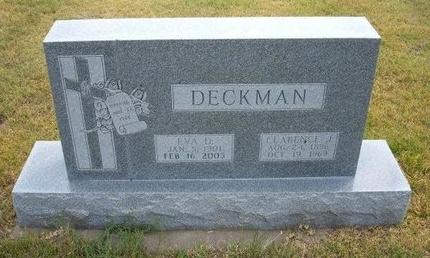 DECKMAN, EVA D - Wallace County, Kansas   EVA D DECKMAN - Kansas Gravestone Photos